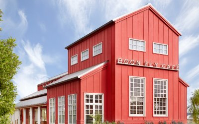 Boon Fly Cafe exterior, farmhouse.