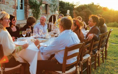 Outdoor dining at Casali di Casole