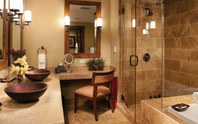 Master bath with stand up shower