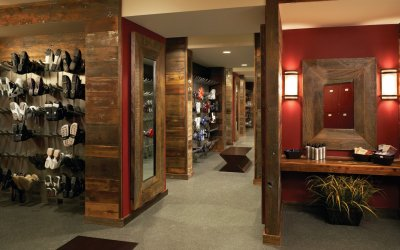 Locker room at One Steamboat Place
