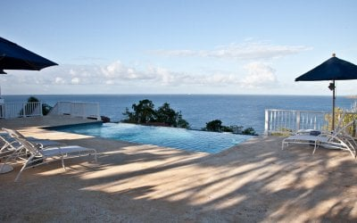 Caribbean views from the pool