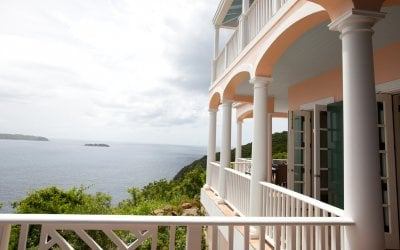 Views of the Caribbean from the terrace