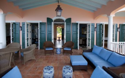 Patio entrance with outdoor seating