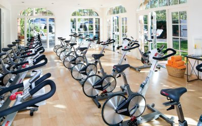 Multiple bikes for spin class