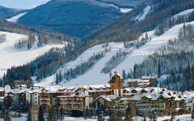 Vail village and mountain