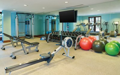 Remodeled fitness room