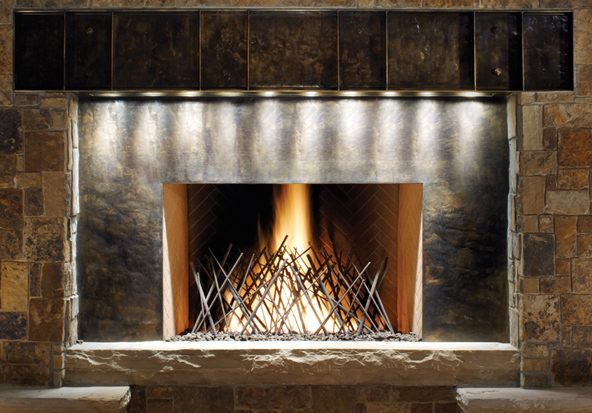 fireplace at the sebastian vail resort