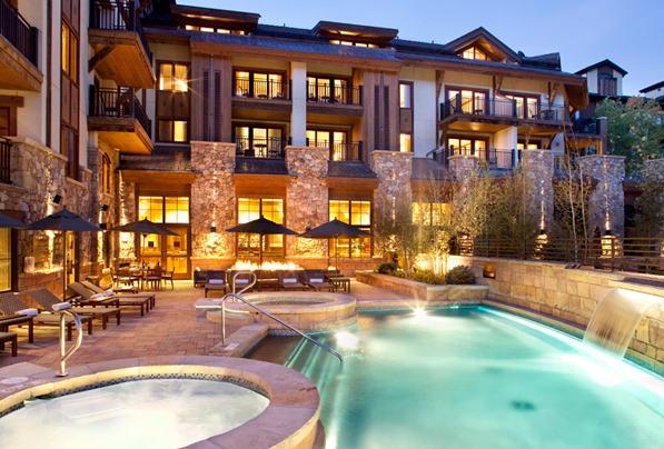 the outdoor pool at The Sebastian - Vail